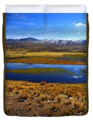 High Altitude Reflections Duvet Cover