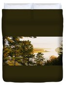 High Angle View Of A River, Ausable Duvet Cover