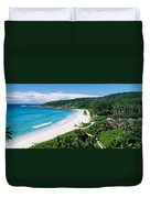 High Angle View Of The Beach, Grand Duvet Cover