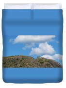 High As The Sky - Blue Sky - Cliffs Duvet Cover