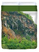 High Cliffs Along River Kwai In Kanchanaburi-thailand Duvet Cover