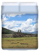 High Country Roundup The Old Days Duvet Cover