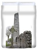 High Cross And Round Tower Monasterboice Duvet Cover