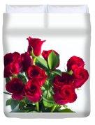 High Key Red Roses Duvet Cover