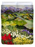 High Mountain Patch Duvet Cover