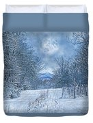 High Peak Mountain Snow Duvet Cover
