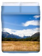 High Peaks Of Eglinton Valley In Fjordland Np Nz Duvet Cover