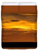 High Plains Sundown Duvet Cover