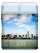 High Resolution Large Photo Of Chicago Skyline Duvet Cover