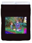 High Satch Scarecrow In A Hat Duvet Cover
