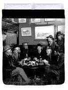 High Stakes Poker - 1913 Duvet Cover