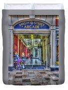 High Street Arcade Cardiff Duvet Cover