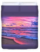 High Tide At San Onofre Duvet Cover