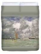 High Tide At Trouville Duvet Cover