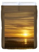 High Tide In The Marsh Duvet Cover by Phill Doherty