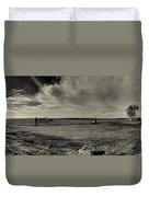 High Tide Of The Confederacy Black And White Duvet Cover