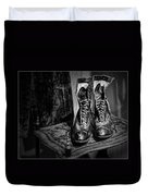 High Top Shoes - Bw Duvet Cover