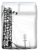 High Wire Suicide Rescue Duvet Cover