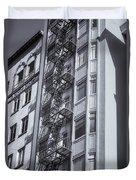 Highrise Fire Escape Selenium Duvet Cover