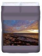 Highway 12 Sunset 3 11/04 Duvet Cover