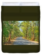Highway In The Forest Duvet Cover