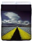Highway Through Death Valley Duvet Cover