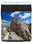 hike in Dolomites Duvet Cover