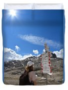 Hiker Find The Way Duvet Cover