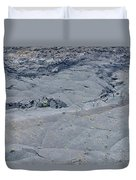 Hikers On The Floor Of The Klauea Iki Duvet Cover