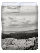 Hikers Standing On The Rocks, Gertrudes Duvet Cover