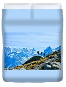 Hiking Above Chamonix On The Lac Blanc Trail Duvet Cover