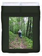 Hiking Group Duvet Cover