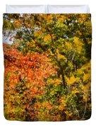 Hiking In Autumn Duvet Cover