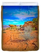 Hiking In Canyonlands Duvet Cover
