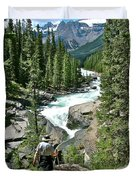 Hiking In Mistaya Canyon Along Icefield Parkway In Alberta Duvet Cover