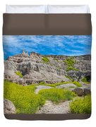 Hiking In The Badlands Duvet Cover