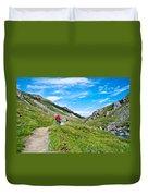 Hiking On Savage River Trail In Denali Np-ak    Duvet Cover