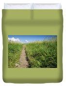Hiking Path In Devon England Duvet Cover