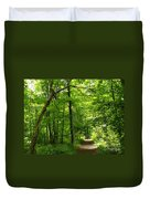Hiking Trails To Mont Morency Falls Duvet Cover