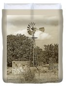 Hill Country Windmill Duvet Cover