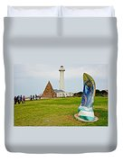Hill Lighthouse Built In 1861 And Donkin Memorial Pyramid Honoring The Wife Of Sir Rufus Donkin-sout Duvet Cover