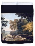 Hill Village In The District Of Bauhelepoor Duvet Cover