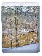 Hillside Snow - Winter Landscape Duvet Cover