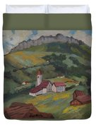 Hilltop Village Switzerland Duvet Cover