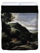 Hilly Landscape Duvet Cover