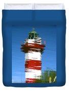 Hilton Head Lighthouse Reflection Duvet Cover