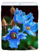 Himalayan Blue Poppy Flower Duvet Cover