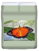 Himalayan Red Lacewing Duvet Cover