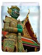 Hindu Figure At Grand Palace Of Thailand In Bangkok Duvet Cover