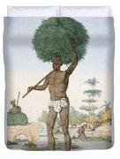 Hindu Servant Cutting Grass, The Duvet Cover